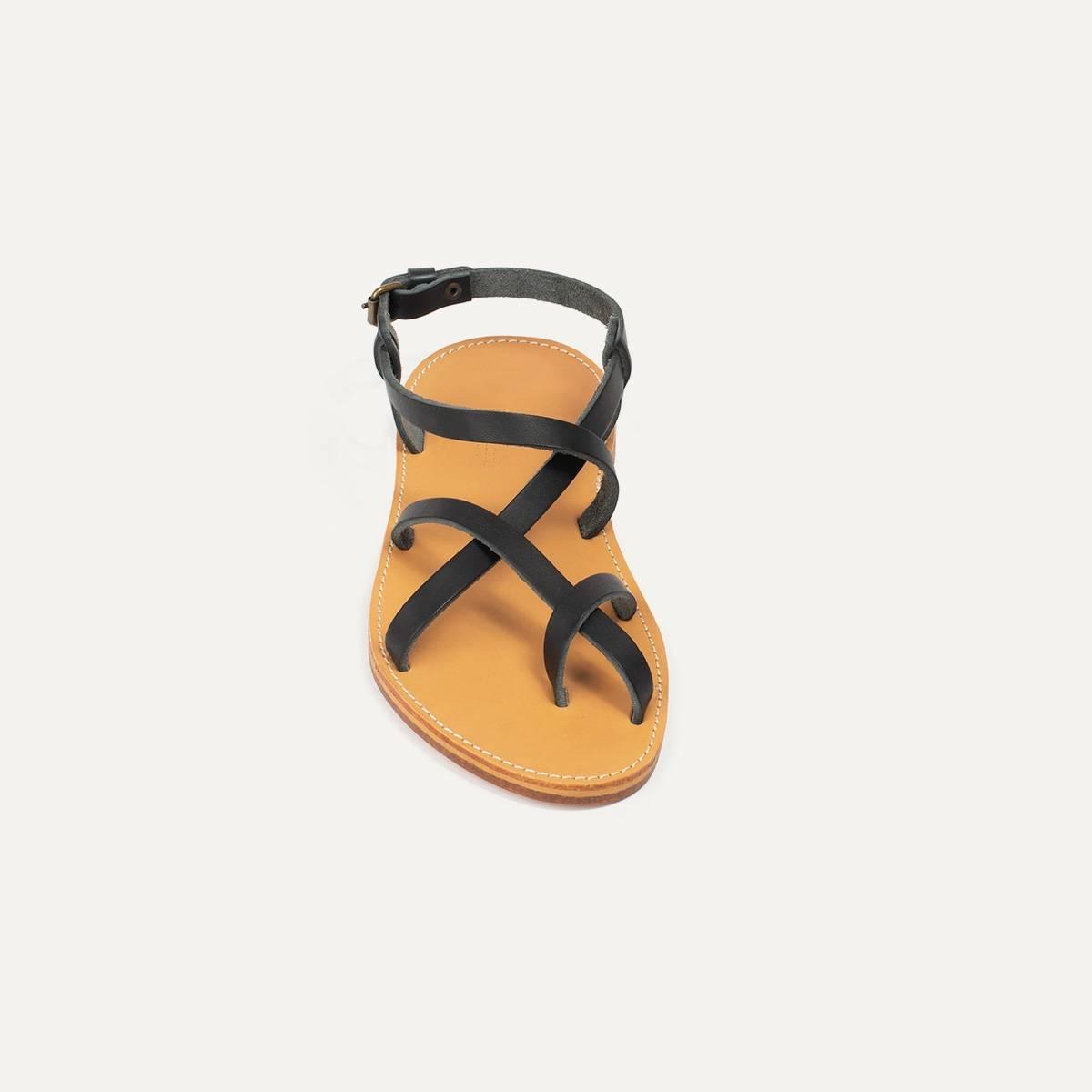 Sandales cuir Nara - Noir (image n°3)