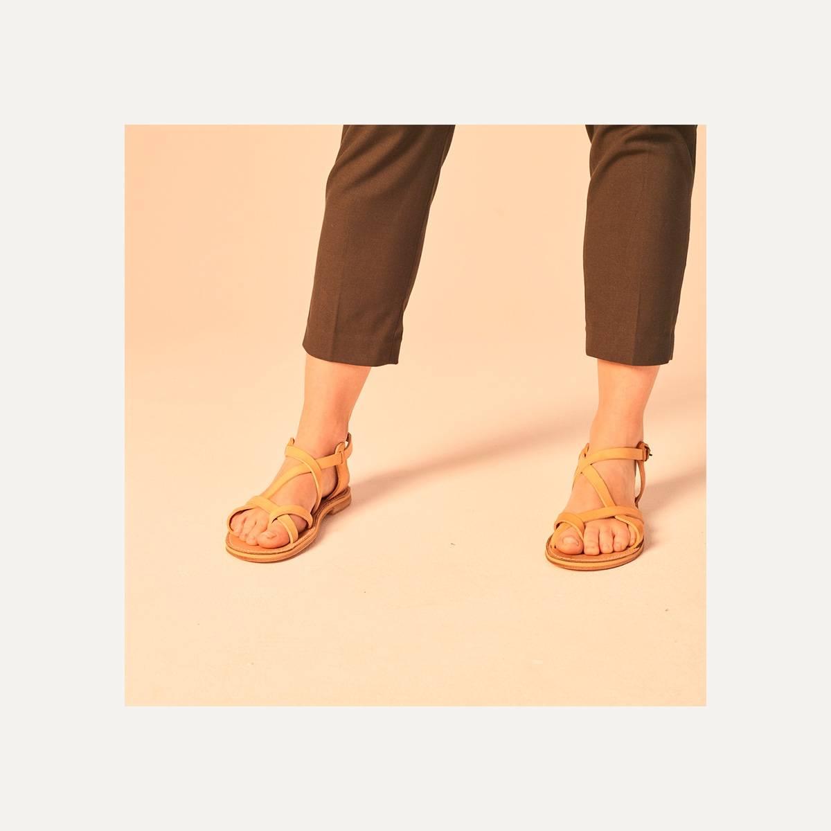Nara leather sandals - Pain Brûlé (image n°8)