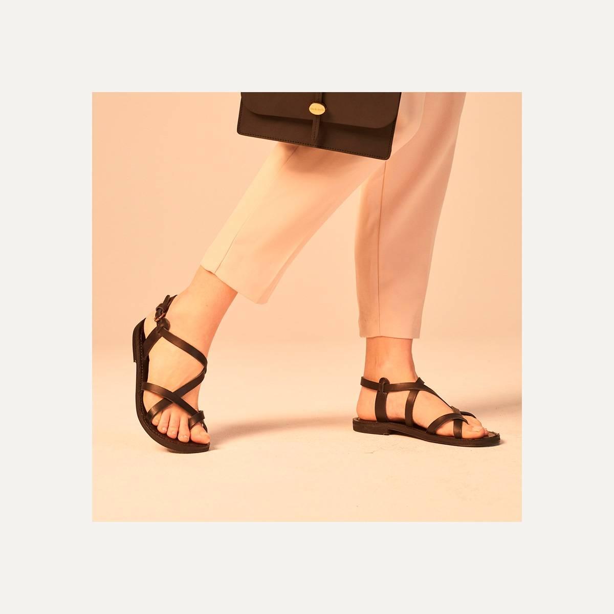 Nara leather sandals - Pain Brûlé (image n°9)