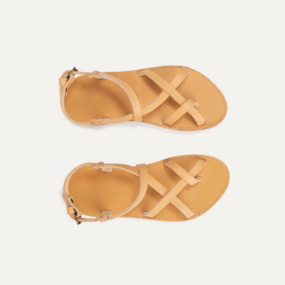 Sandales cuir Nara - Naturel (image n°1)