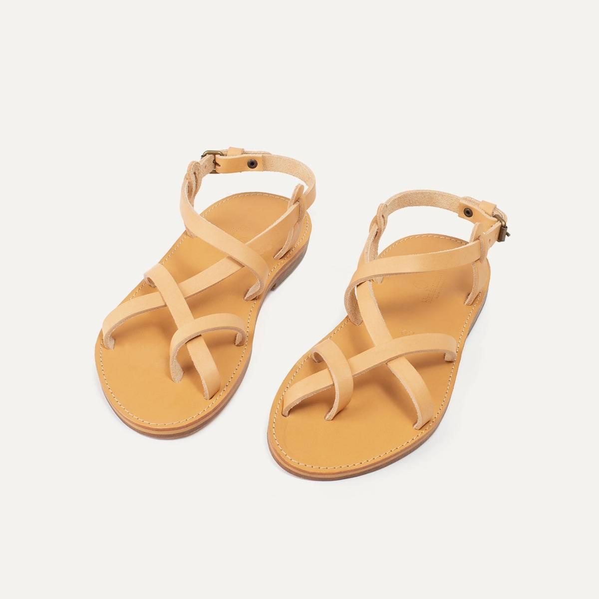 Sandales cuir Nara - Naturel (image n°5)