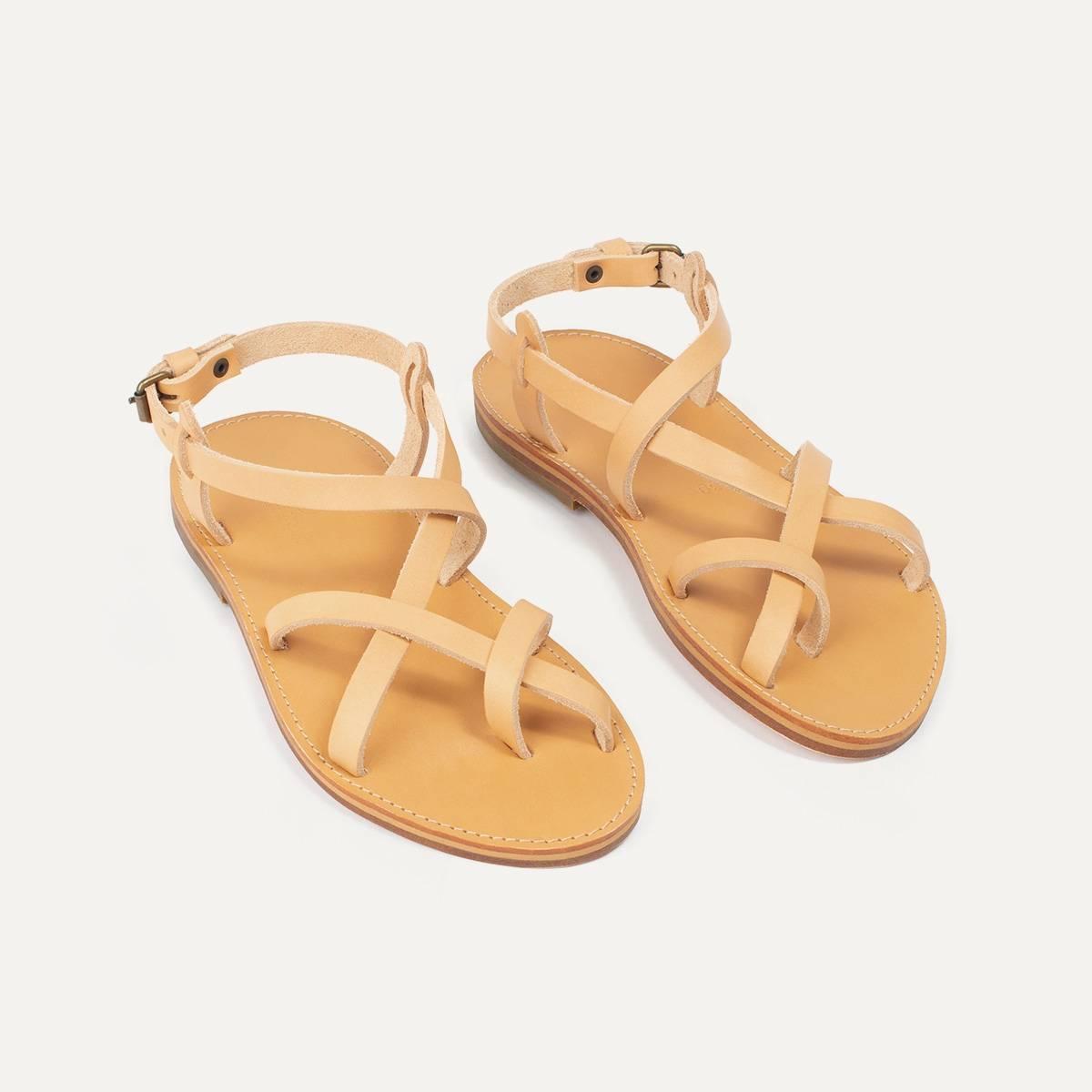 Sandales cuir Nara - Naturel (image n°4)