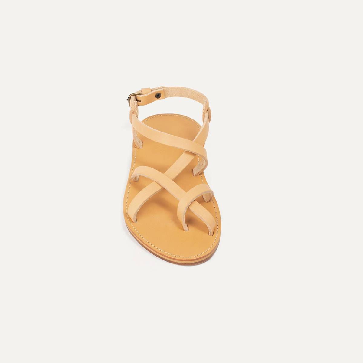 Nara leather sandals - Natural (image n°3)