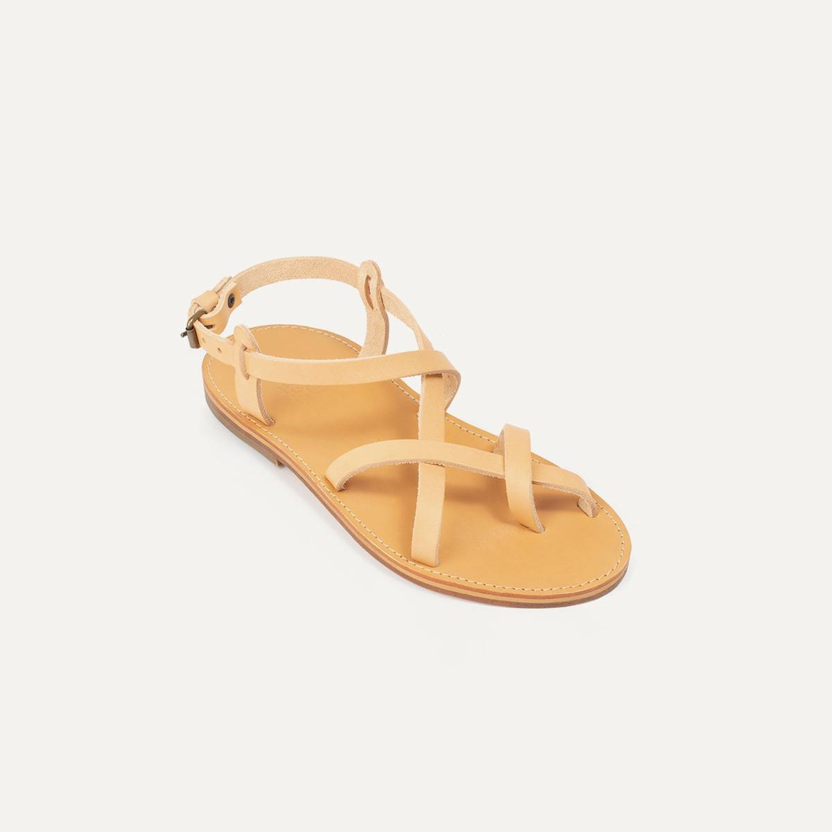 Sandales cuir Nara - Naturel (image n°2)