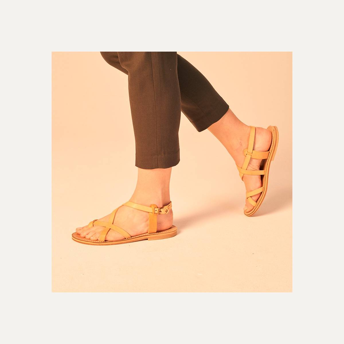 Sandales cuir Nara - Naturel (image n°7)