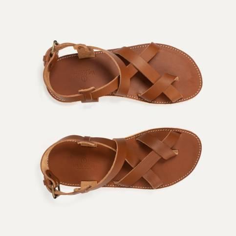 Lhassa leather sandals - Pain Brûlé