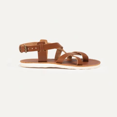 Lhassa leather sandals - Pain Brûlé