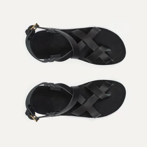 Lhassa leather sandals - Black
