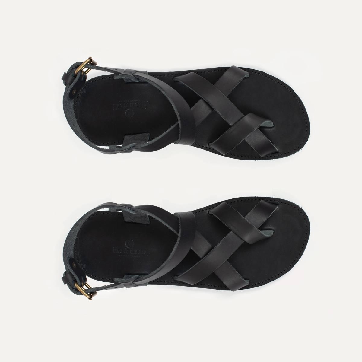 Lhassa leather sandals - Black (image n°4)