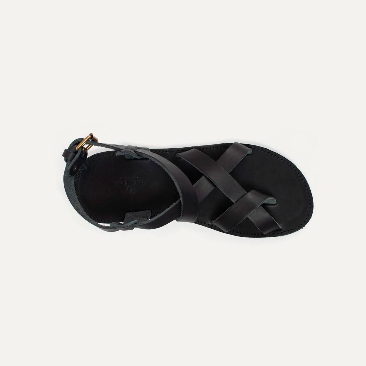 Lhassa leather sandals - Black (image n°6)