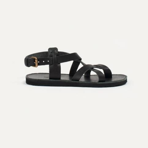 Lhassa leather sandals - Black