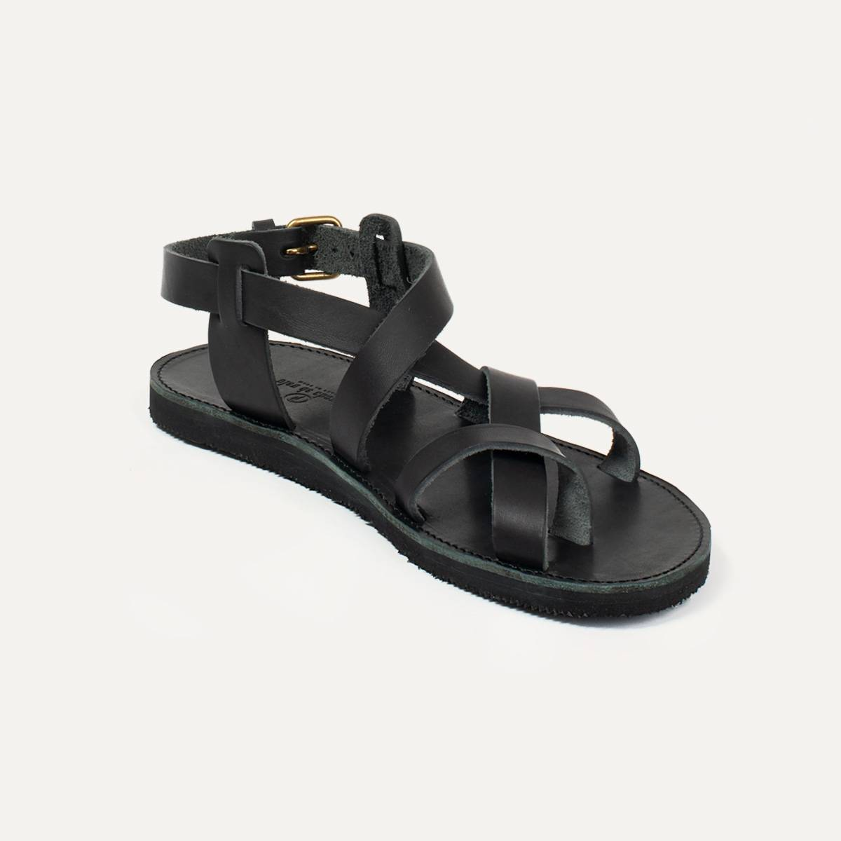 Lhassa leather sandals - Black (image n°2)