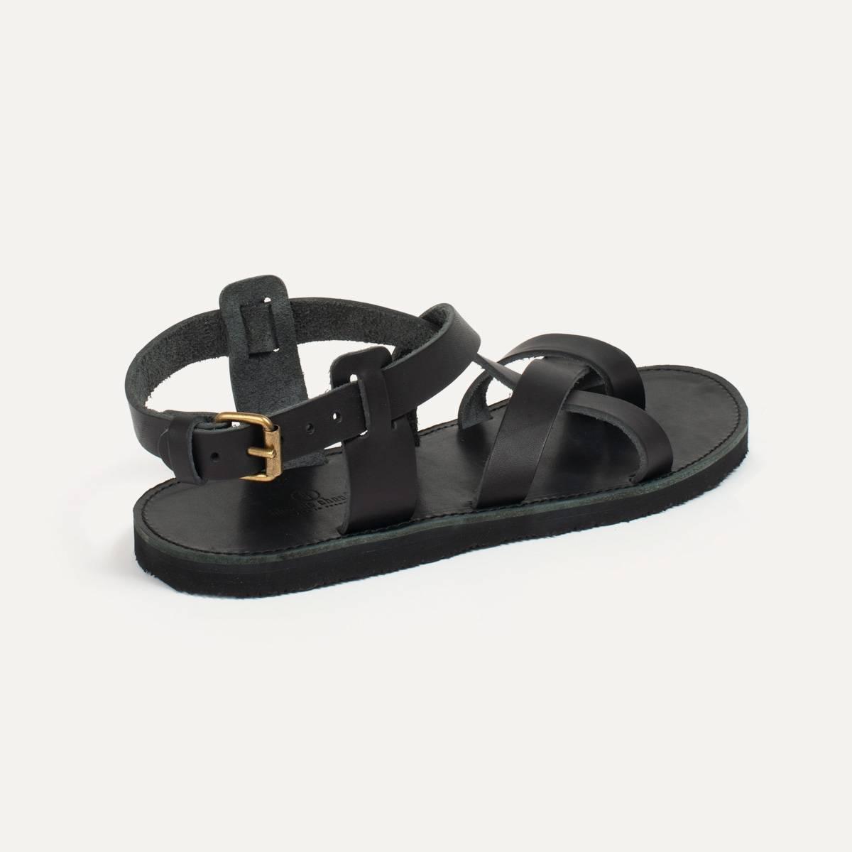 Lhassa leather sandals - Black (image n°3)
