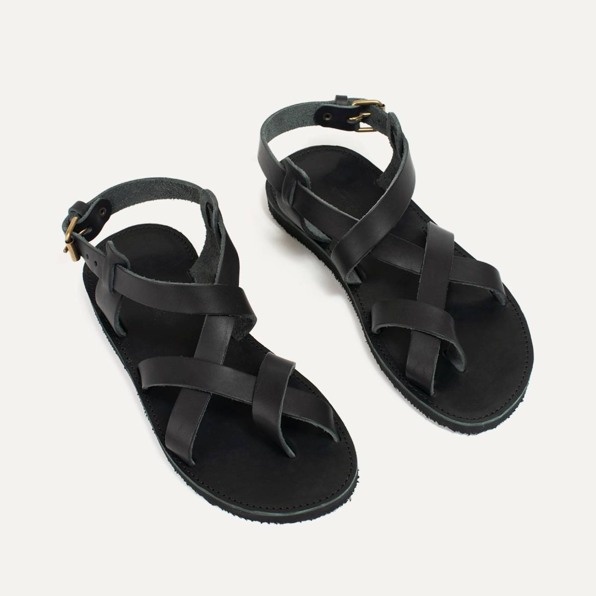 Lhassa leather sandals - Black (image n°7)