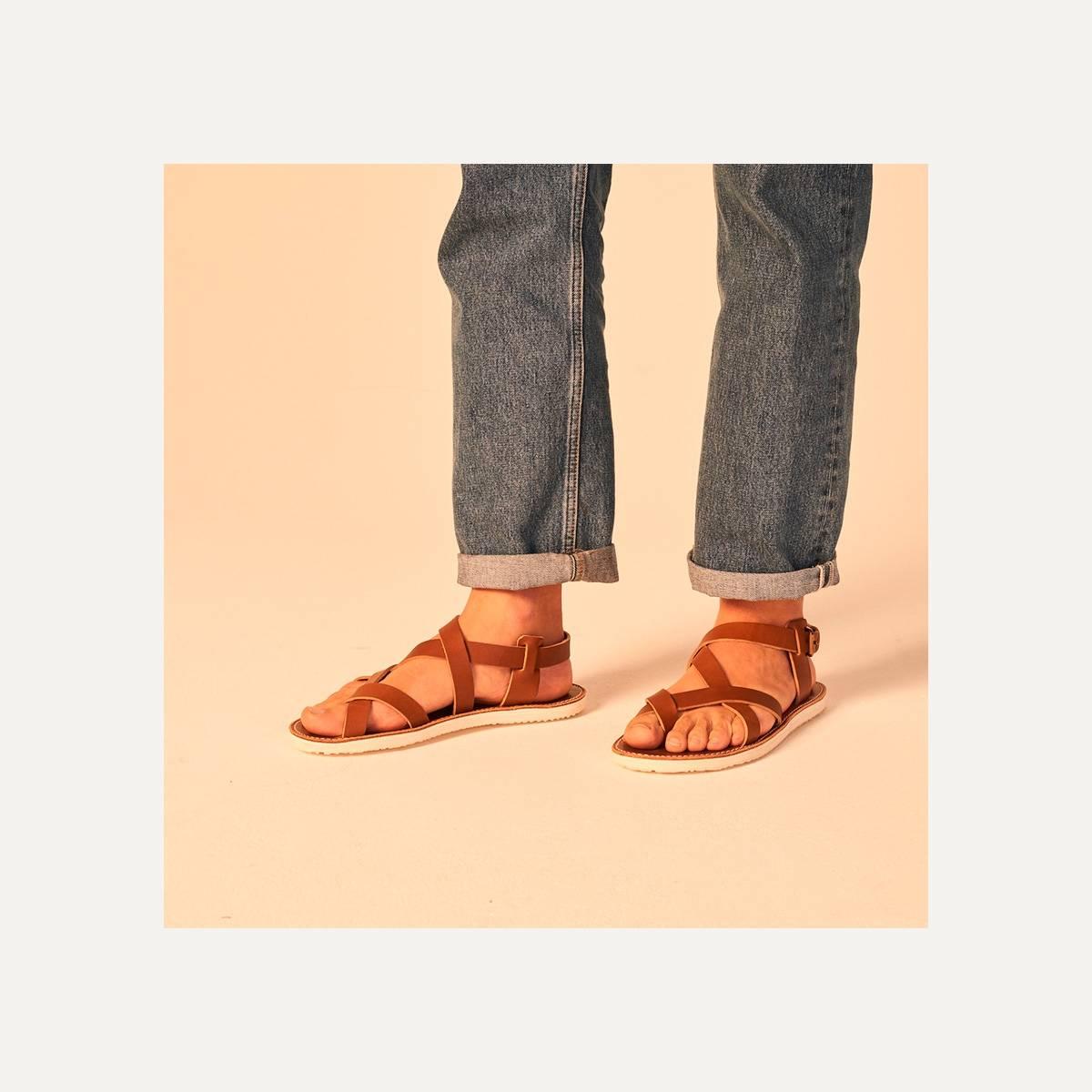 Lhassa leather sandals - Black (image n°9)
