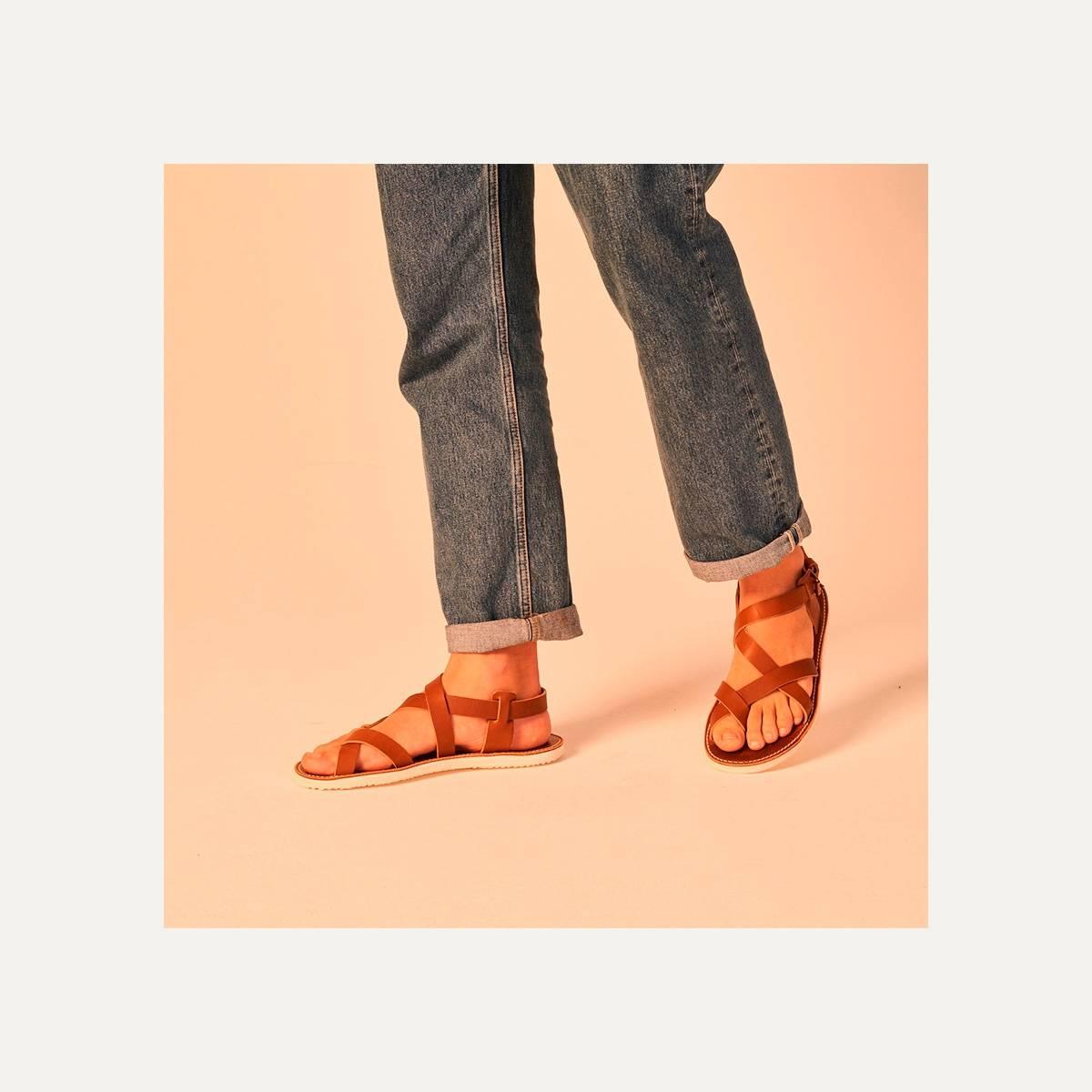 Lhassa leather sandals - Black (image n°8)