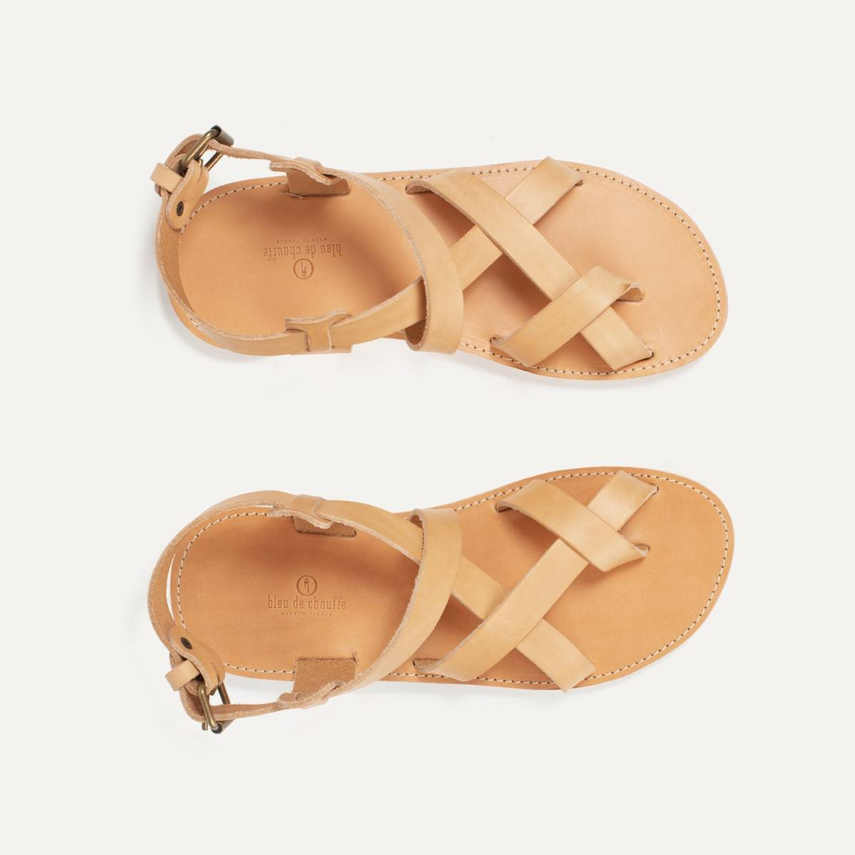Lhassa leather sandals - Natural (image n°4)