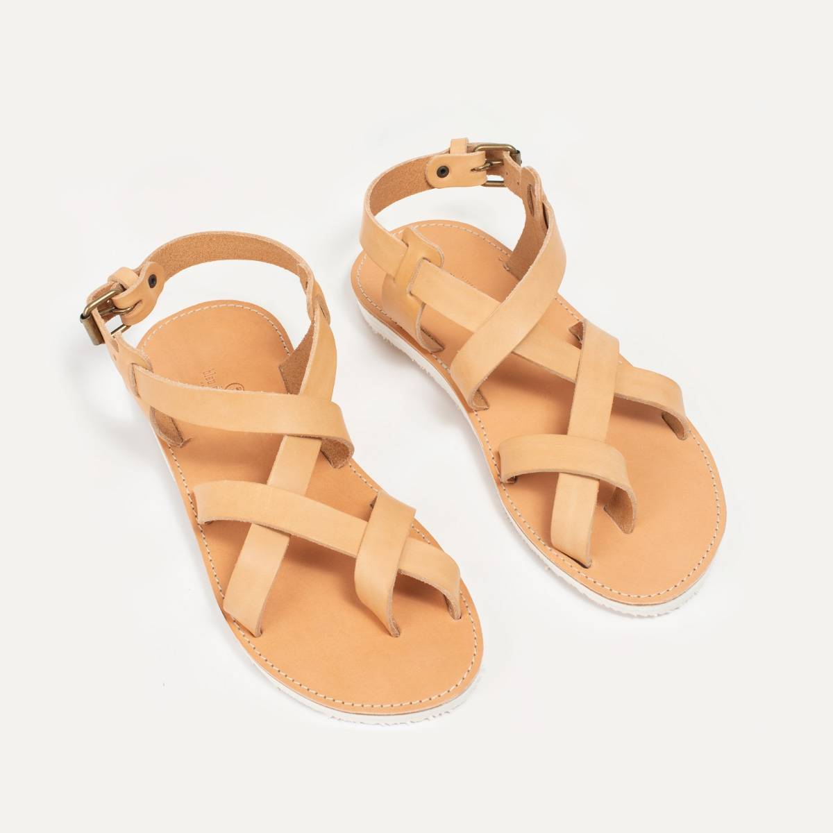 Lhassa leather sandals - Natural (image n°7)