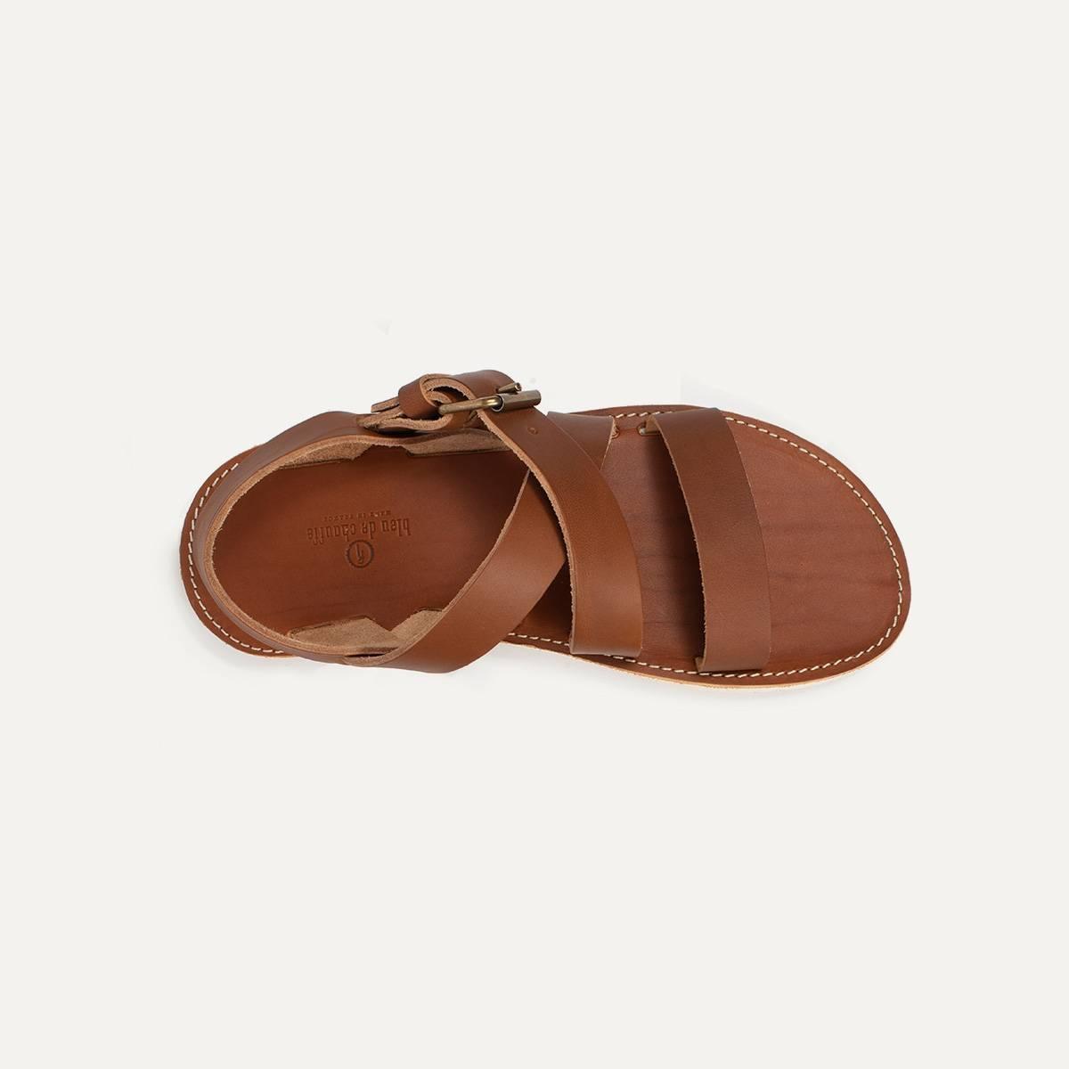 Iwate leather sandals - Pain Brûlé (image n°4)
