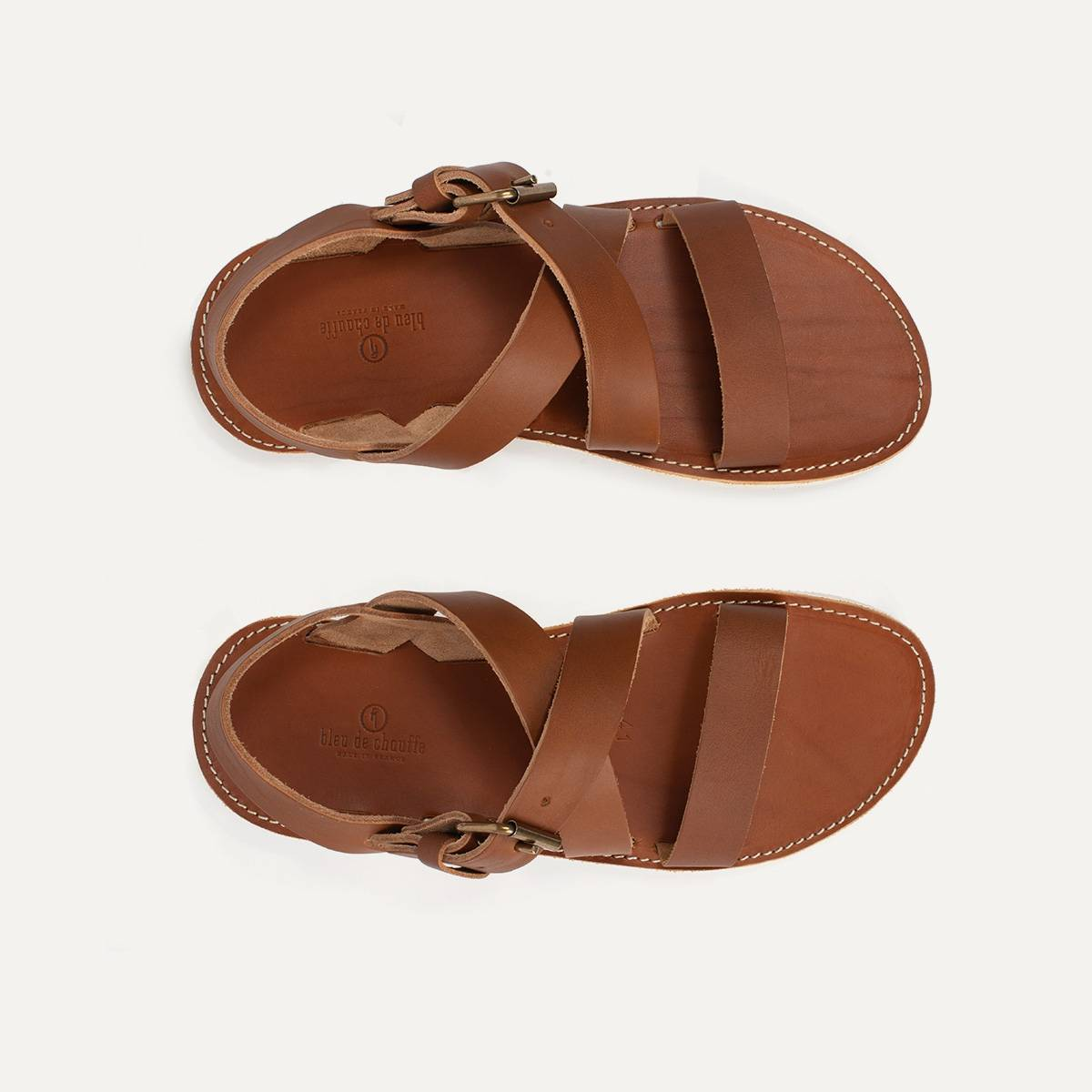 Iwate leather sandals - Pain Brûlé (image n°2)
