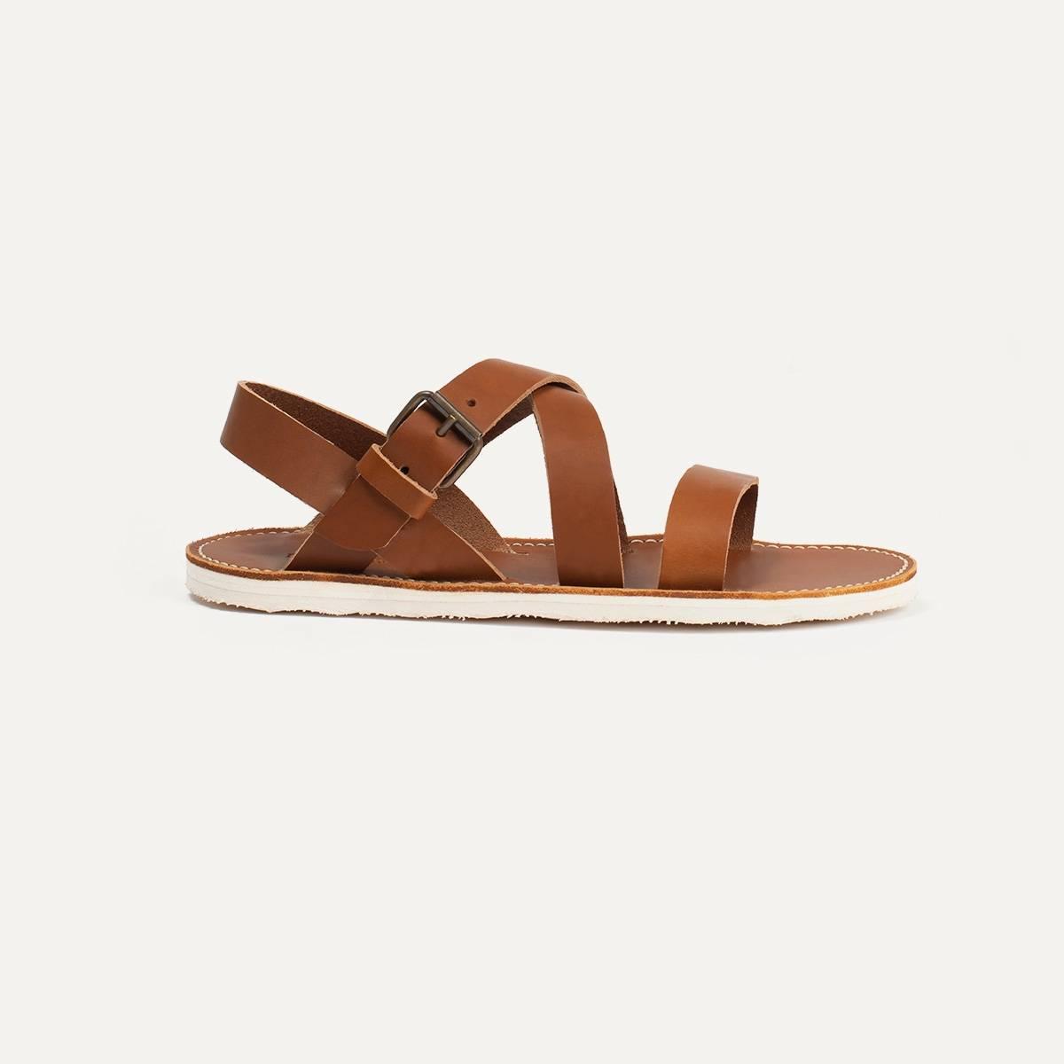 Iwate leather sandals - Pain Brûlé (image n°1)