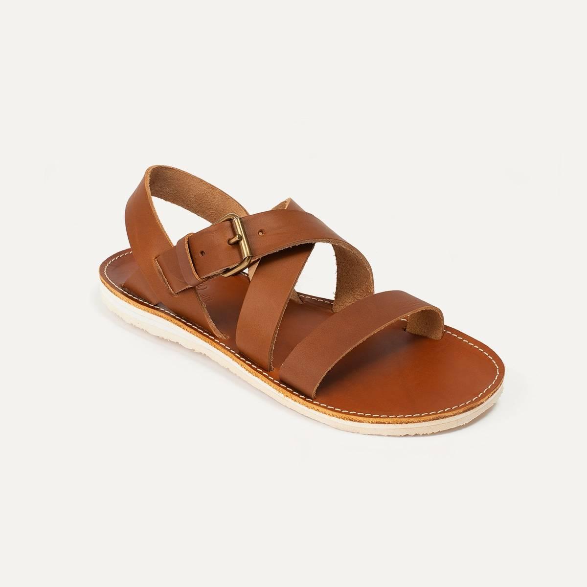 Iwate leather sandals - Pain Brûlé (image n°3)