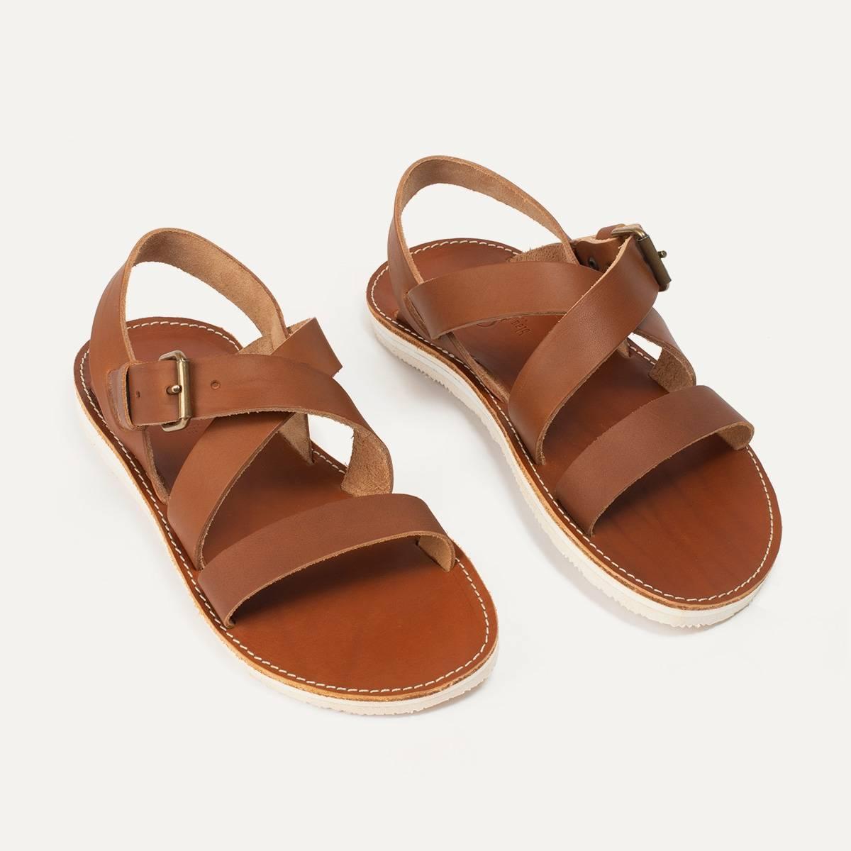 Iwate leather sandals - Pain Brûlé (image n°5)