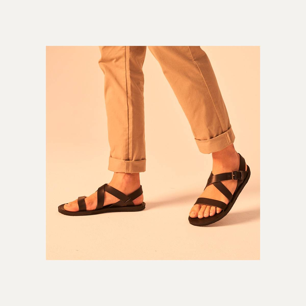 Iwate leather sandals - Pain Brûlé (image n°6)