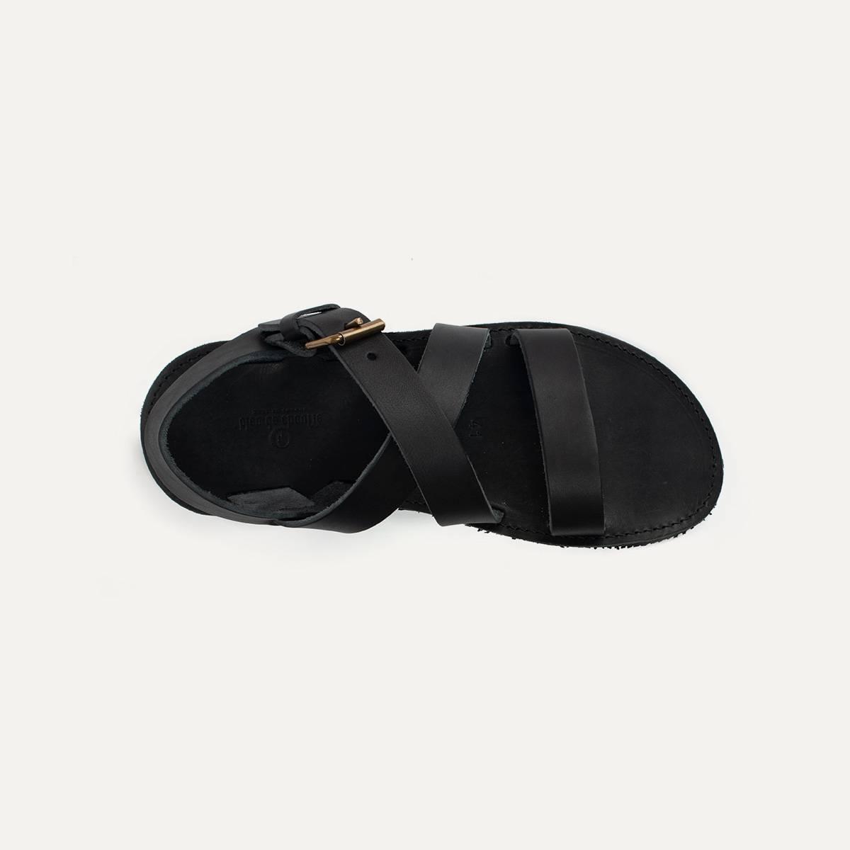 Sandales cuir Iwate - Noir (image n°4)