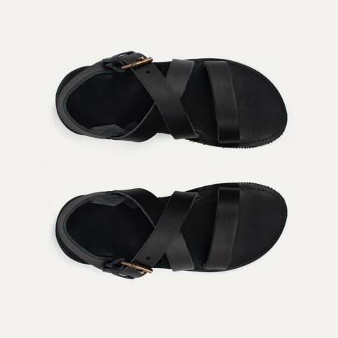 Iwate leather sandals - Black