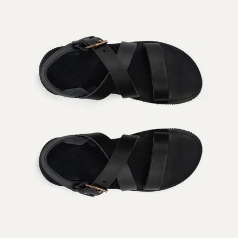Sandales cuir Iwate - Noir