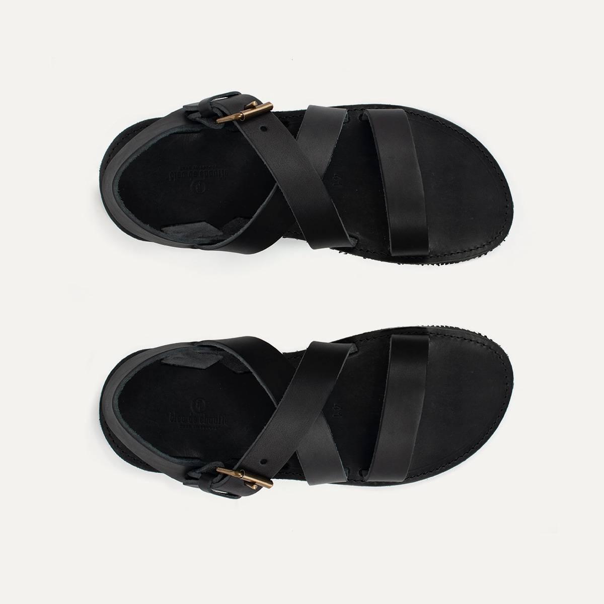 Sandales cuir Iwate - Noir (image n°2)