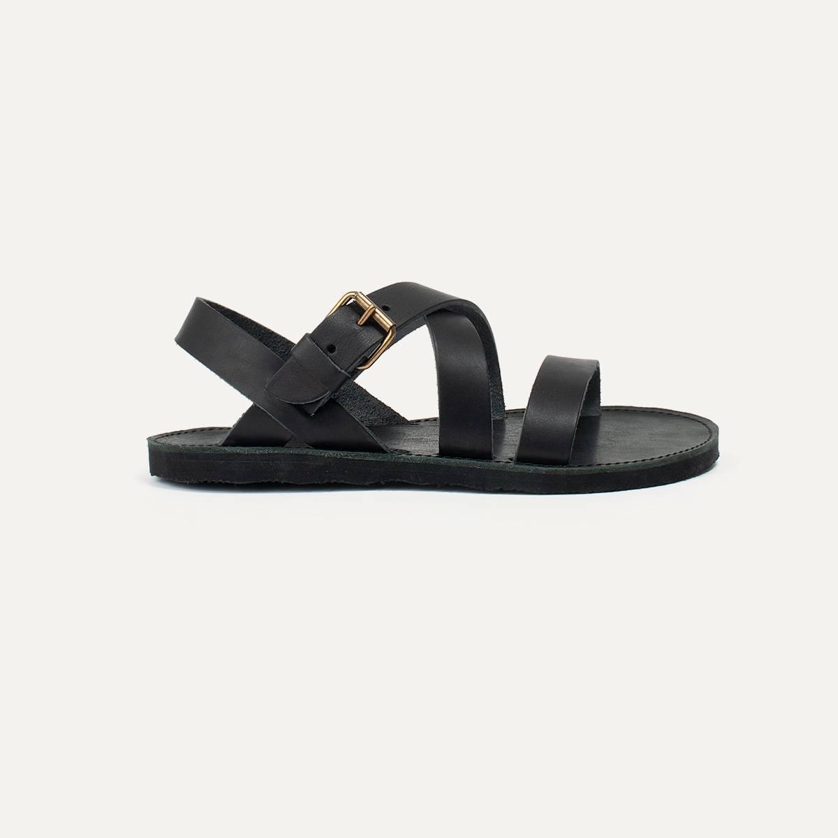 Iwate leather sandals - Black (image n°1)