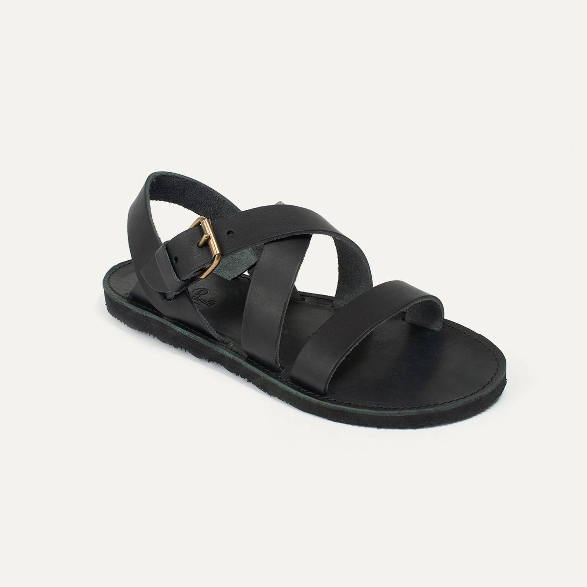 Iwate leather sandals - Black (image n°3)