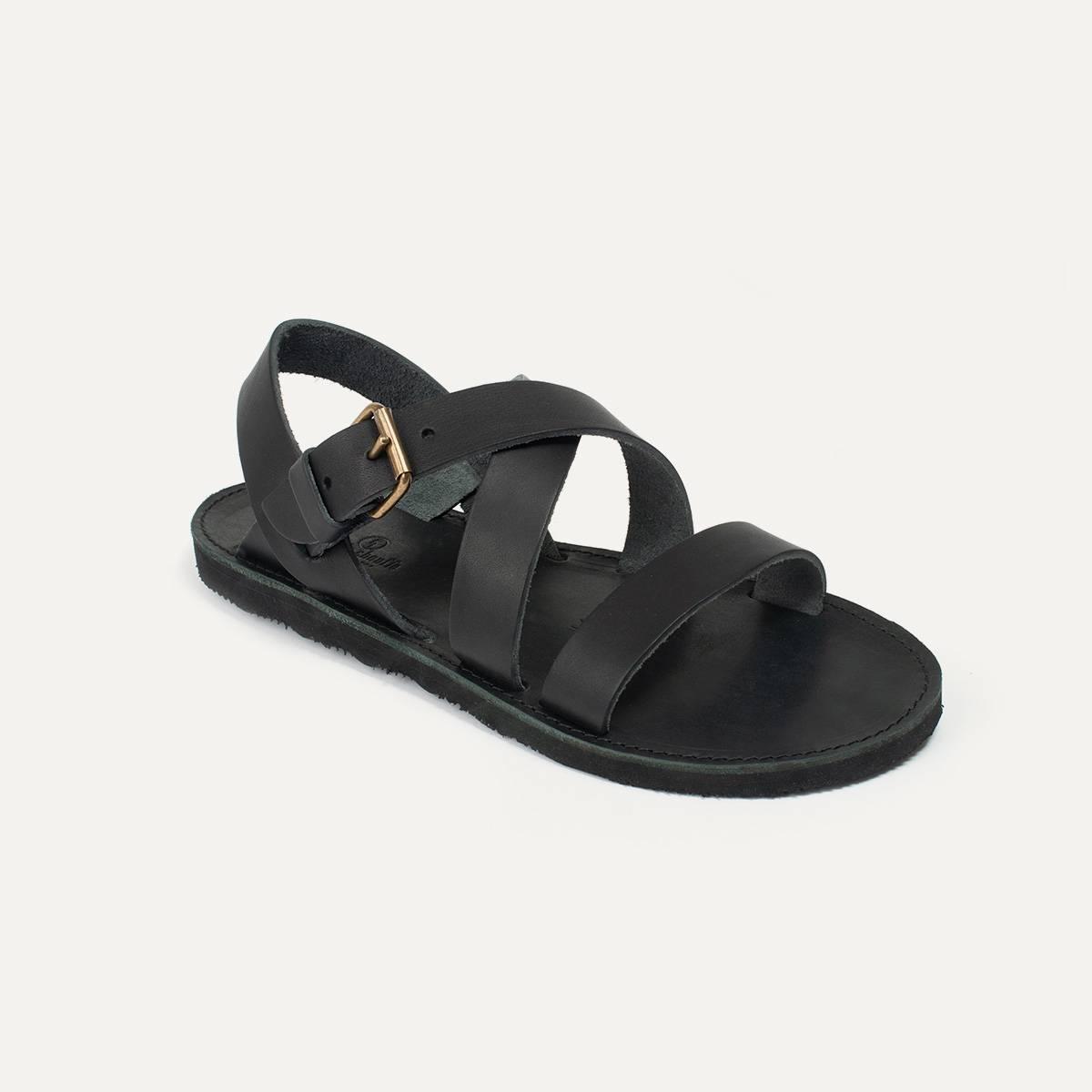 Sandales cuir Iwate - Noir (image n°3)