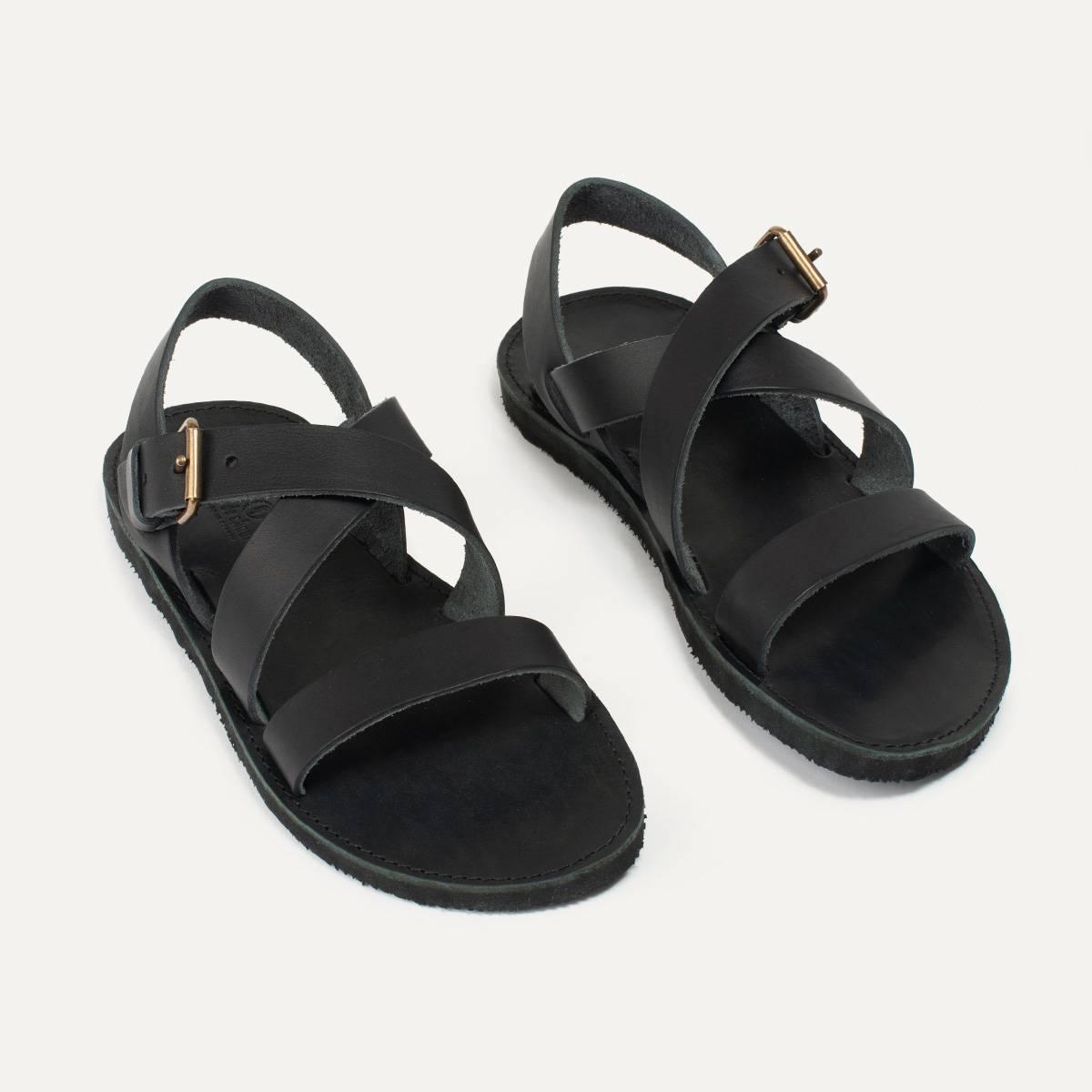 Sandales cuir Iwate - Noir (image n°5)