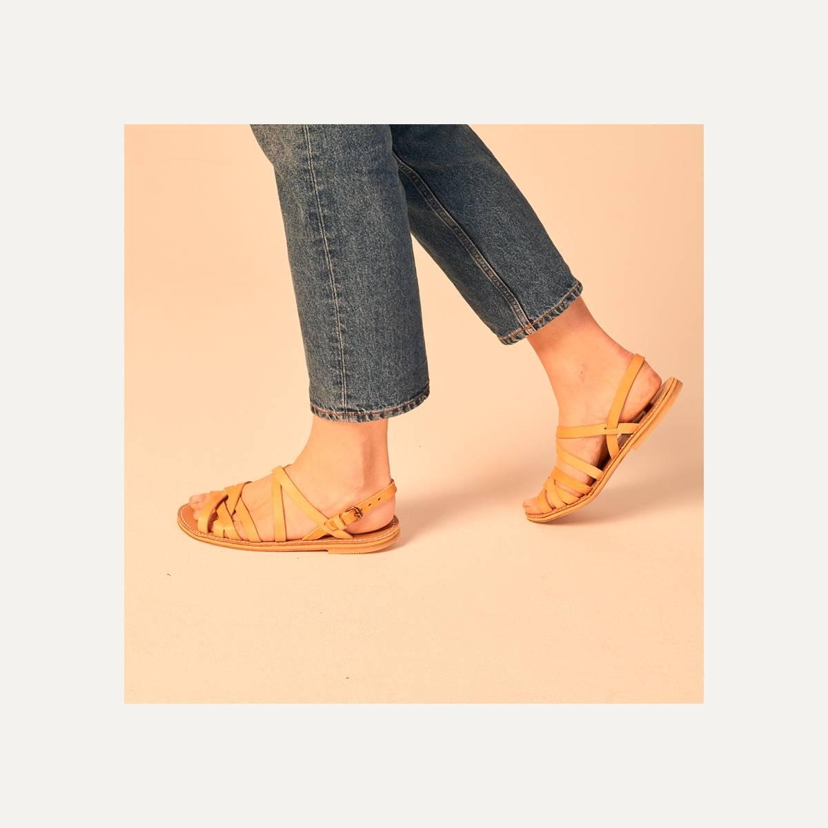 Majour leather sandals - Natural (image n°6)