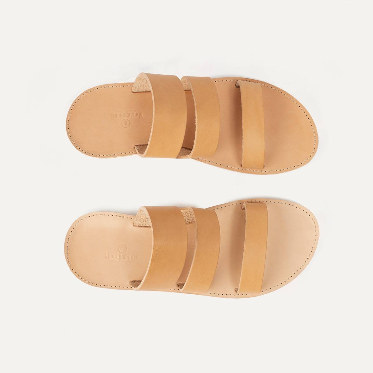 Athos leather sandals - Natural (image n°1)