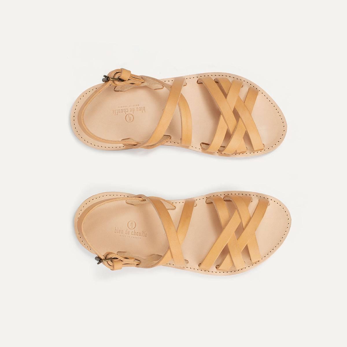 Sandales cuir Majour - Naturel (image n°1)