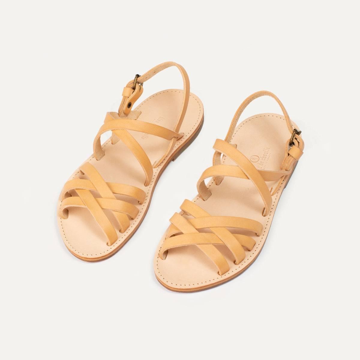 Majour leather sandals - Natural (image n°4)