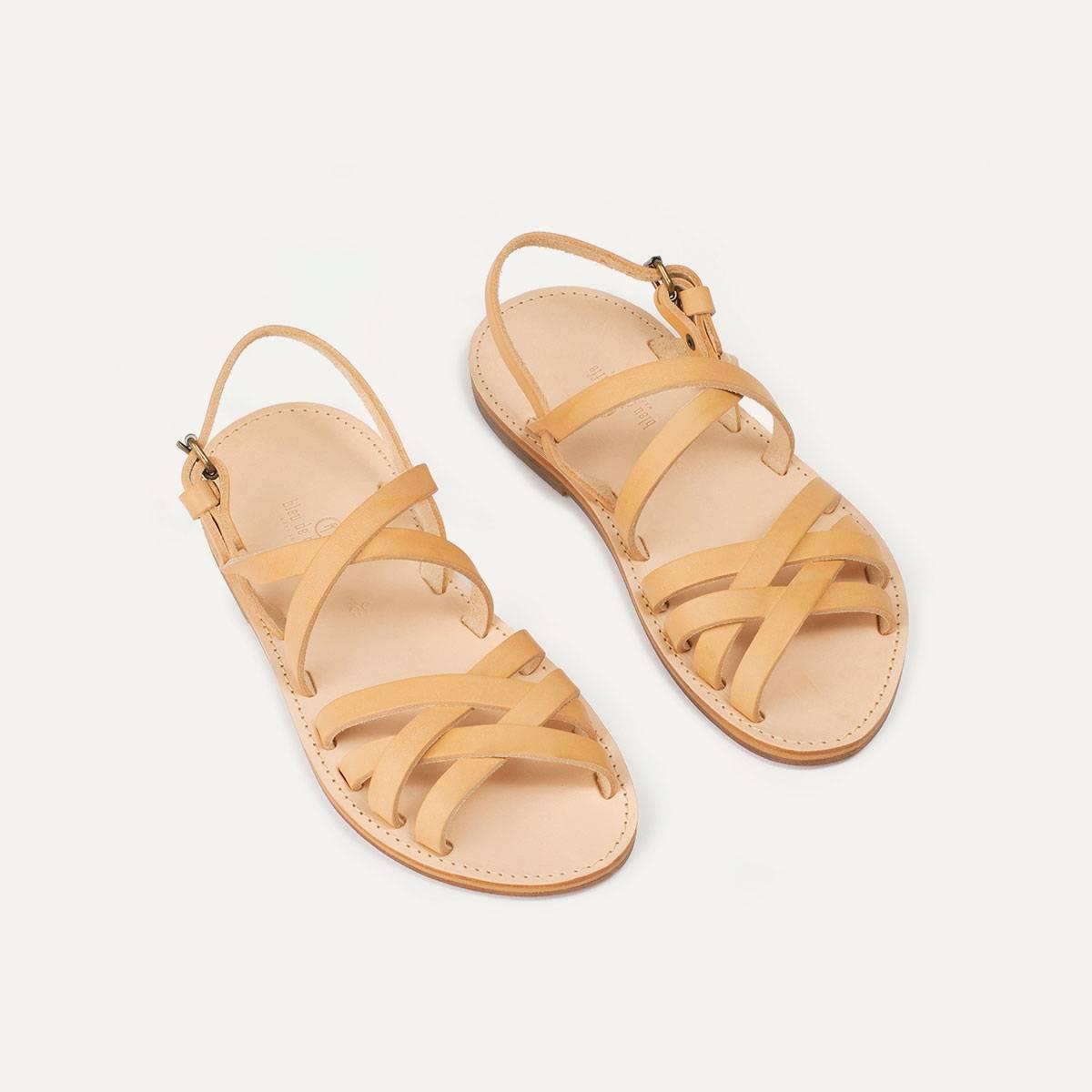 Sandales cuir Majour - Naturel (image n°3)