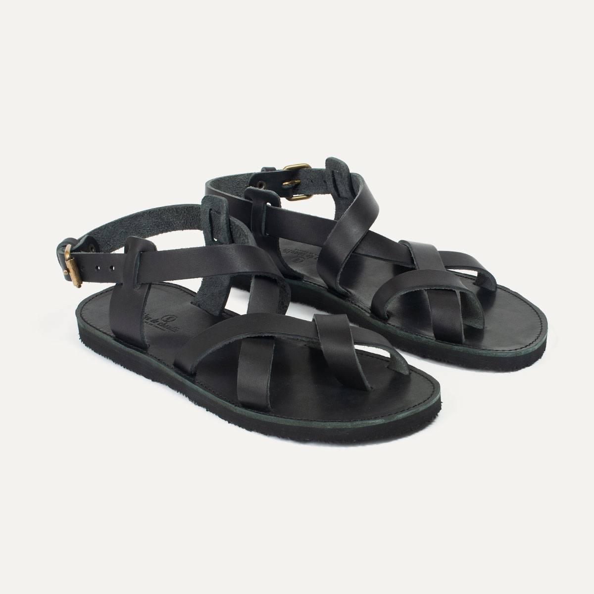 Lhassa leather sandals - Black (image n°5)