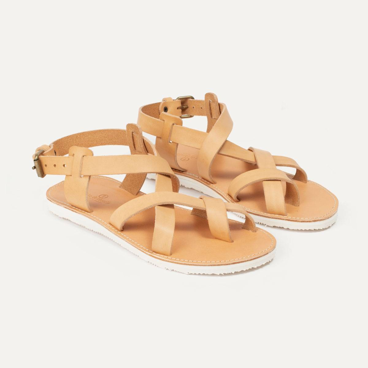 Lhassa leather sandals - Natural (image n°5)