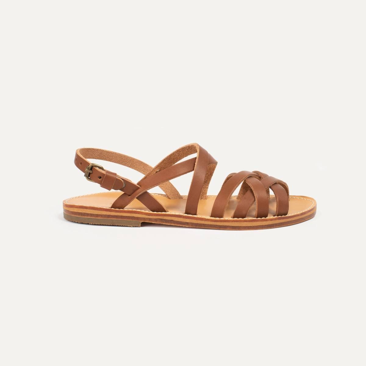 Sandales cuir Majour - Pain Brûlé (image n°5)