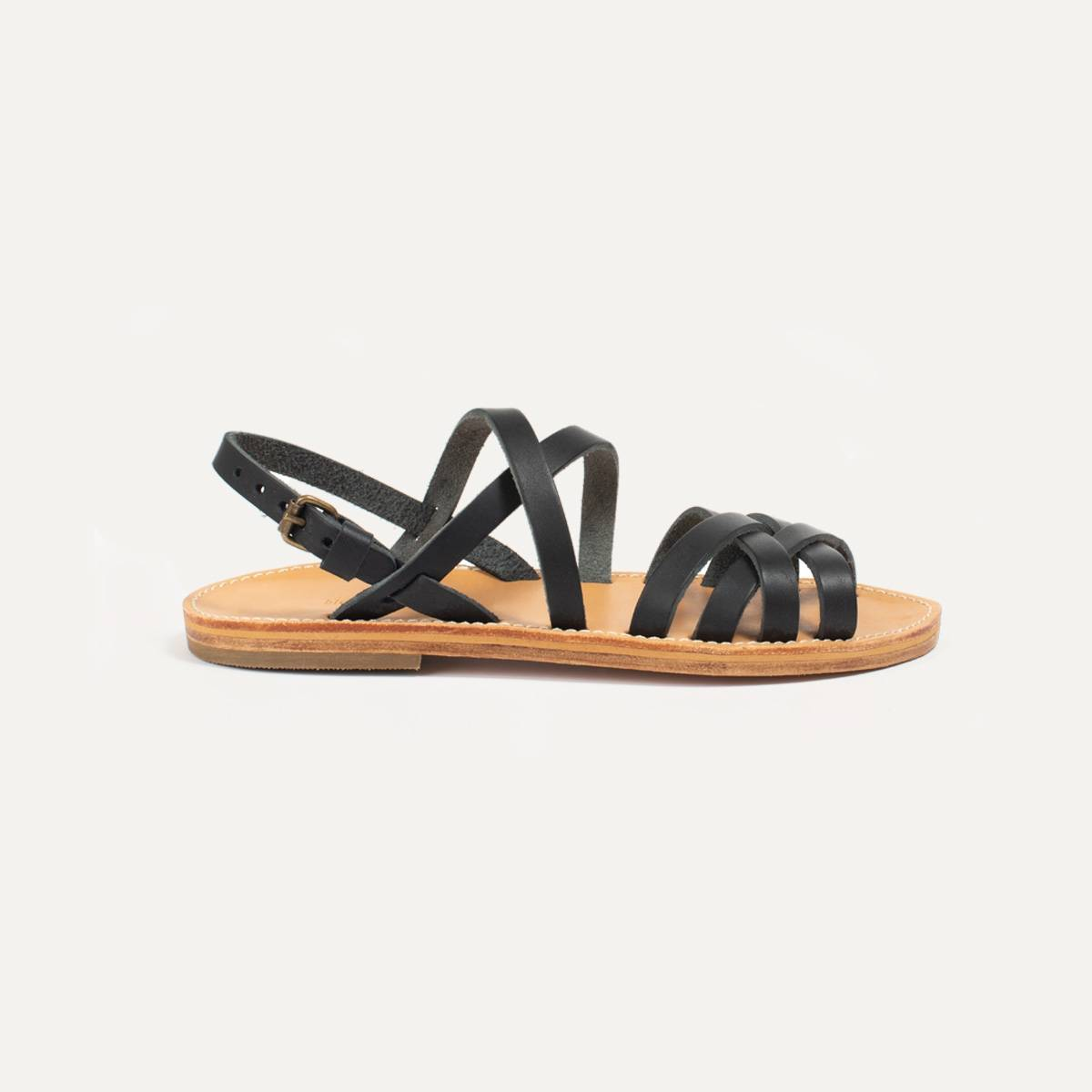 Sandales cuir Majour - Noir (image n°5)