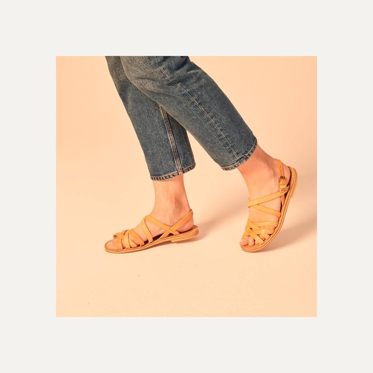Sandales cuir Majour - Noir (image n°7)