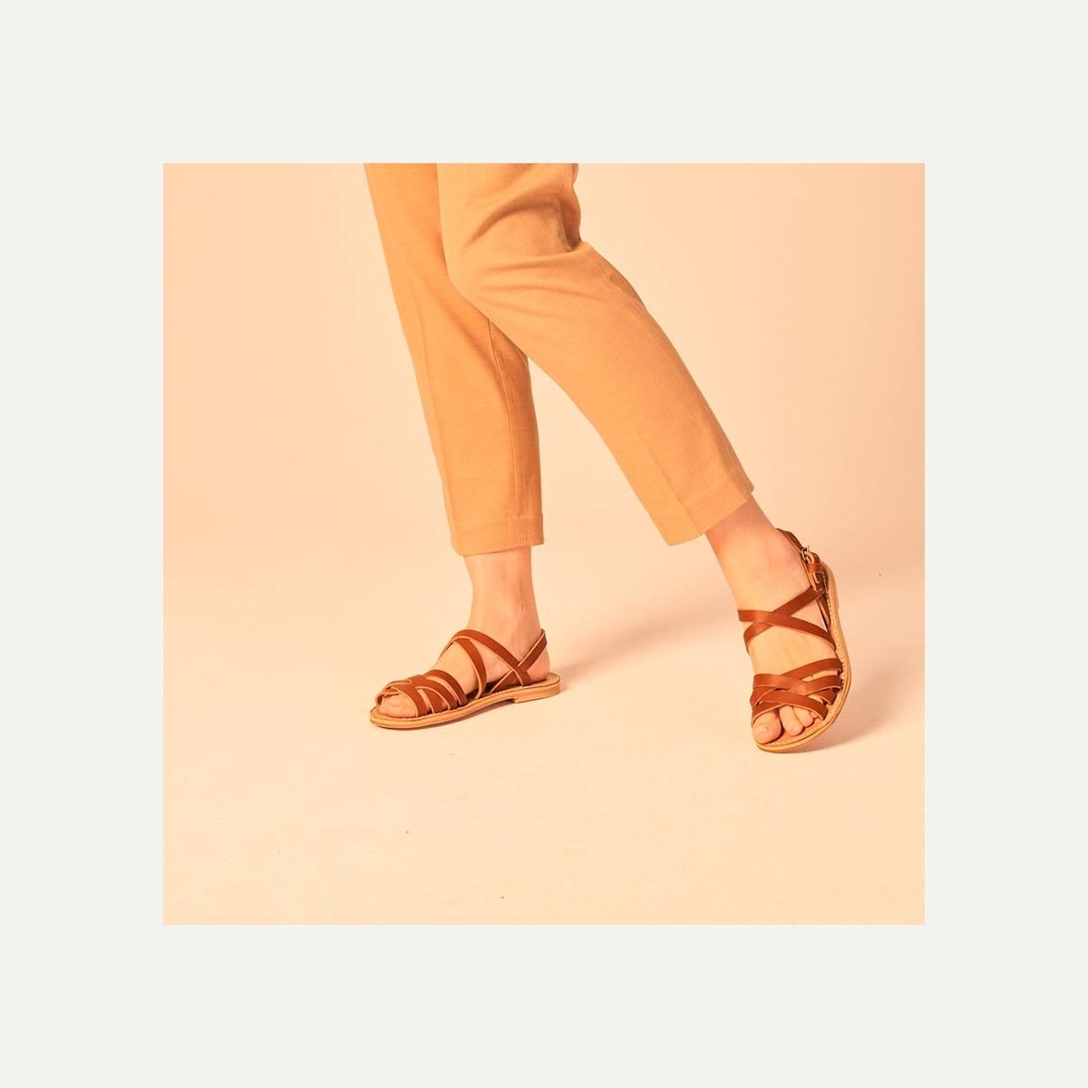 Sandales cuir Majour - Pain Brûlé (image n°6)