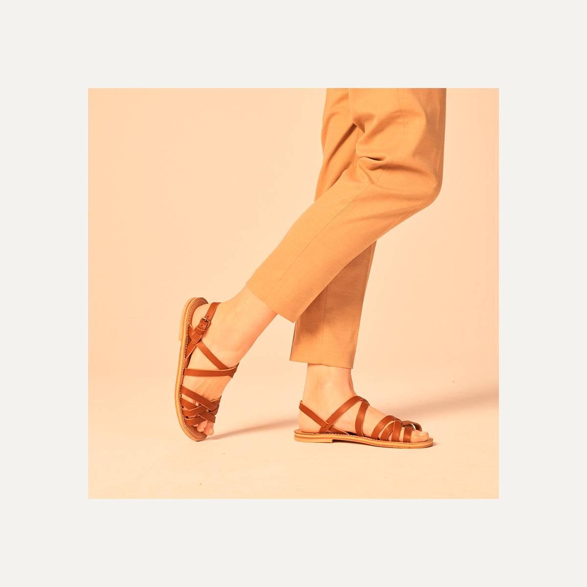 Majour leather sandals - Pain Brûlé (image n°7)