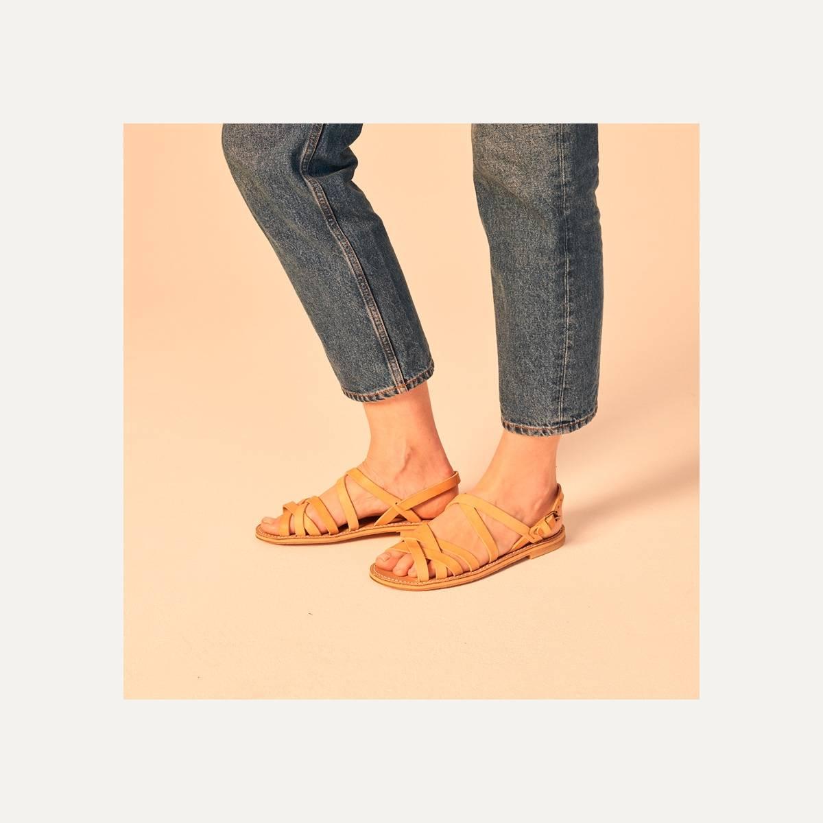 Majour leather sandals - Pain Brûlé (image n°9)