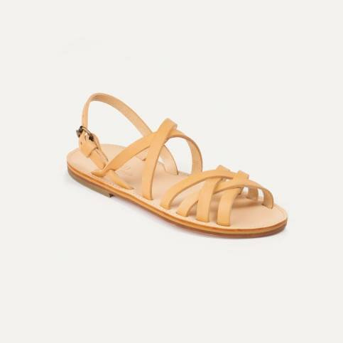 Majour leather sandals - Natural